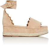 Chloé Women's Lauren Nubuck Wedge Espadrille Sandals