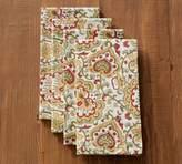 Pottery Barn Block Print Napkin, Set of 4 - Green Floral