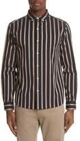 Saturdays NYC Crosby Satin Stripe Shirt