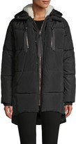 Cherté Quilted Faux Fur-Lined Puff Coat