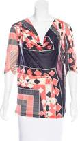 Jean Paul Gaultier Silk Printed Top