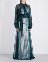 Maison Margiela Changeant metallic gown
