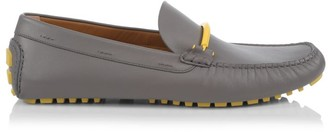 HUGO BOSS Driver Horsebit Leather Penny Loafers