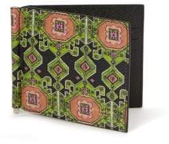 Givenchy Printed Leather Money Clip Wallet
