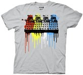 Ripple Junction Doctor Who Rainbow Daleks Mens Gray T-Shirt | XXL