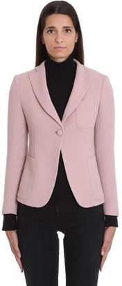 L'Autre Chose Lautre Chose LAutre Chose Blazer In Rose-pink Wool