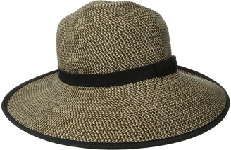 San Diego Hat Company Women's Ultrabraid Sun Brim Capped Back with Band and Contrast Edge