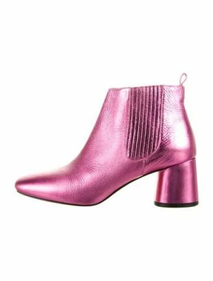 Marc Jacobs Leather Chelsea Boots Metallic
