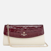Aspinal of London Women's Eaton Clutch Bag - Bordeux/Ivory/ Peacock