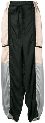 Maison Flaneur Panelled Drawstring Trousers