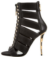 Balmain Caged Ankle Boots