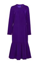 Cushnie et Ochs Purple Long Sleeved Trumpet Flare Dress
