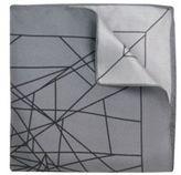Hugo Boss Pocket sq. cm 33x 33 Italian Silk Patterned Pocket Square One Size Grey