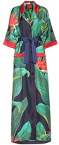For Restless Sleepers Printed silk robe