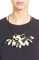 Marni Floral Calfskin Leather Necklace