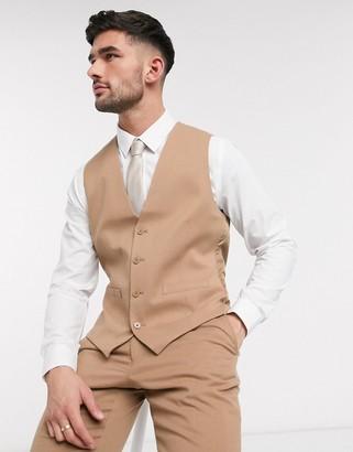 French Connection wedding slim fit flannel suit vest