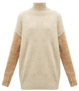 Burberry Otama Fluffy Roll-neck Sweater - Womens - Beige Multi