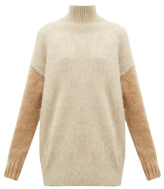 Burberry Otama Fluffy Roll-neck Sweater - Beige Multi
