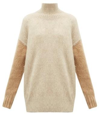 Burberry Otama Fluffy Roll-neck Sweater - Womens - Beige Multi