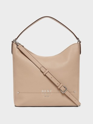 DKNY Women's Thompson Hobo Handbag - Sand - Size N/S
