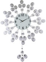 Orient Three Star Elegant Silver Peacock Pendulum Wall Clock