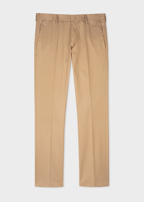 Paul Smith Men's Slim-Fit Camel Stretch-Cotton Chinos