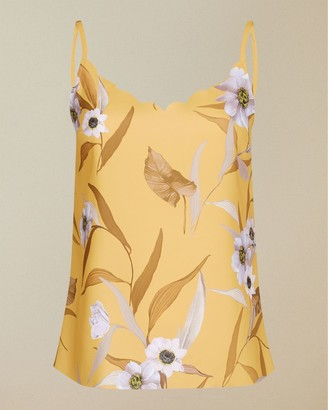 Ted Baker Cabana Printed Scalloped Top