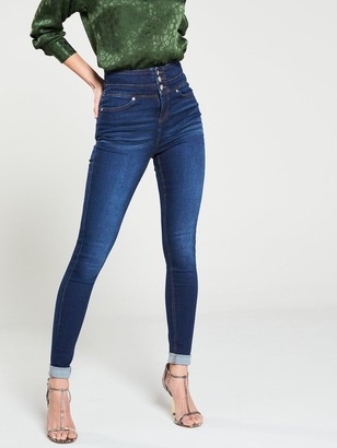 Very Macy High Waisted Skinny Jeans - Dark Wash