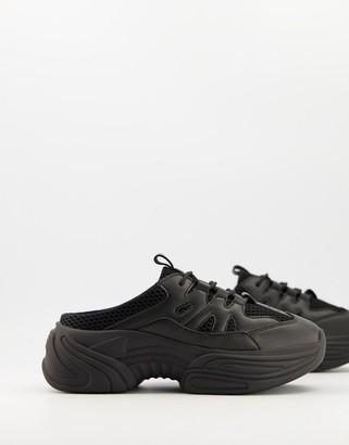 ASOS DESIGN Dava chunky mule sneakers in black