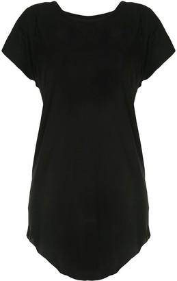 Boris Bidjan Saberi Cotton Short Sleeve Curved Hem Dress