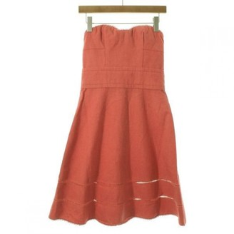 Louis Vuitton Orange Linen Dresses