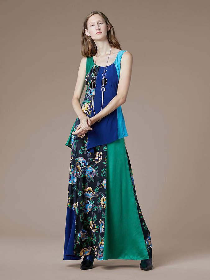 Diane von Furstenberg Two Layer Maxi Dress