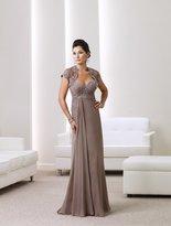 Montage by Mon Cheri - 211913 Long Dress In Mink