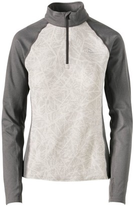L.L. Bean Women's L.L.Bean Midweight Base Layer, 1/4 Zip, Print