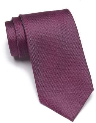 Calvin Klein Silver Spun Solid Silk Tie