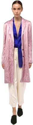 Haider Ackermann Wrinkled Satin Coat