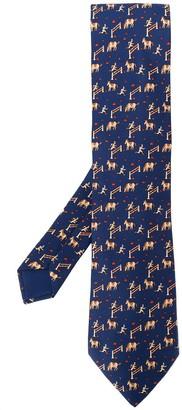 Hermes 2000's Pre-Owned Printed Tie