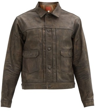 Ralph Lauren RRL Dawson Patinated Distressed-leather Jacket - Brown