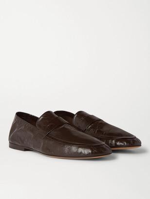 Bottega Veneta Crinkled-Leather Loafers