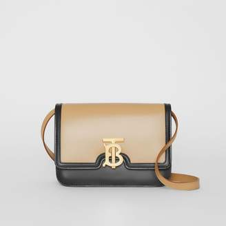 Burberry Small Two-tone Leather TB Bag