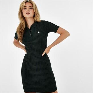 Jack Wills Moray Short Sleeve Polo Cable Dress