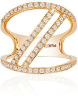 Effy Jewelry Effy Geo 14K Yellow Gold Diamond Negative Space Ring, 0.65 TCW