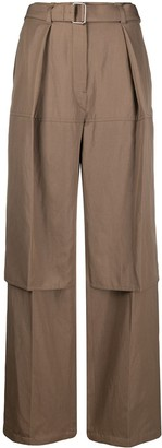 Lemaire Belted Wide-Leg Trousers