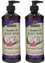 Nature's Answer Essential Oil Body Wash, Coconut Vanilla, 2 Count