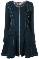 Natasha Zinko flared denim dress - women - Cotton - 36