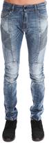 Pierre Balmain Balmain Rib Moto Blue Jean