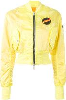 Unravel Project - cropped bomber jacket - women - Cotton/Polyamide/Polyurethane - 38