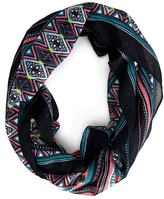 Forever 21 Eclectic Striped Infinity Scarf