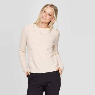 Who What Wear Woen's Ebellished Crewneck Pullover Sweater - Who What WearTM