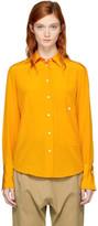Studio Nicholson Orange Silk Catch Shirt